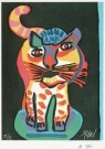 Karel Appel (1921-2006)  -  Tigre uit de serie 'Appel's circus', 1978 - Postcard -  A0761-1