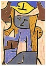 Paul Klee (1879-1940)  -  Girl with a Yellow Hat - Postcard -  A101568-1