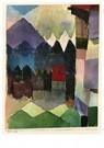 Paul Klee (1879-1940)  -  Föhn in Marc's Garden, 1915 - Postcard -  A104543-1
