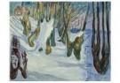 Edvard Munch (1863-1944)  -  Bomen zich aftekenend tegen de sneeuw, 1923 - Postcard -  A11905-1