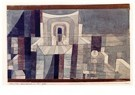 Paul Klee (1879-1940)  -  Architecture in Red and Green, 1921 - Postcard -  A123943-1