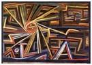 Paul Klee (1879-1940)  -  Radiation and Rotation, 1924 - Postcard -  A124663-1