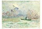 Claude Monet (1840-1926)  -  L'Hiver, Pres De Lavacourt - Postcard -  A13480-1