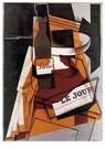Juan Gris(1887-1927)  -  Bottle, Newspaper And Fruit Bowl - Postcard -  A15763-1