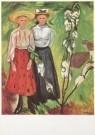Edvard Munch (1863-1944)  -  Twee meisjes bij een bloeiende appelboom - Postcard -  A2035-1
