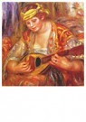 Auguste Renoir (1841-1919)  -  Woman With A Mandolin - Postcard -  A20794-1