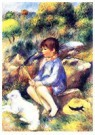 Auguste Renoir (1841-1919)  -  Young Boy By The River - Postcard -  A20801-1