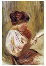 Auguste Renoir (1841-1919)  -  Woman Reading 1 - Postcard -  A20806-1
