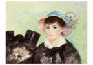 Auguste Renoir (1841-1919)  -  Young Woman In A Straw Hat 2 - Postcard -  A20822-1