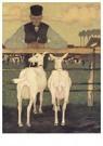 Jan Mankes(1889-1920)  -  Boer met geitjes, 1914 - Postcard -  A25280-1