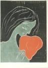 Edvard Munch (1863-1944)  -  Vrouw met hond - Postcard -  A3547-1