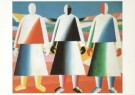 Kazimir Malevich (1887-1935)  -  Girls in the field, 1928-32 - Postcard -  A3880-1