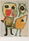 Karel Appel (1921-2006)  -  Figuur met vogel - Postcard -  A6196-1