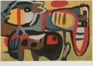 Karel Appel (1921-2006)  -  Optocht der dieren, 1951 - Postcard -  A6198-1