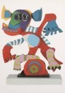 Karel Appel (1921-2006)  -  Le personnage gai - Postcard -  A6923-1
