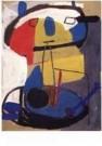 Karel Appel (1921-2006)  -  Zonder titel - Postcard -  A9875-1