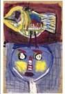 Karel Appel (1921-2006)  -  Little Chickadee - Postcard -  A9880-1