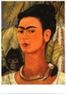 Frida Kahlo (1907-1954)  -  Selfportrait with mon - Postcard -  A9910-1