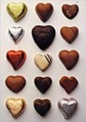 Letizia Volpi  -  Chocolate Hearts - Postcard -  C8468-1